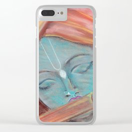Lord Krishna pastel painting from Russia Clear iPhone Case