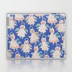 Angels on blue Laptop & iPad Skin