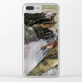 Waterfalls Over Rocks Clear iPhone Case