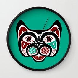 Northwest Pacific coast Haida Kitty Wall Clock