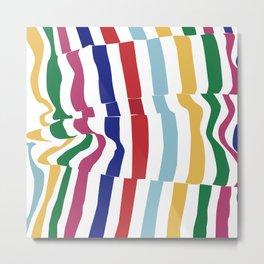 abstract stripes Metal Print