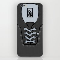 vans iPhone & iPod Skins featuring Black Gray Vans shoes iPhone 4 4s 5 5s 5c, ipod, ipad, pillow case and tshirt by Three Second