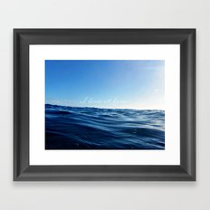 I love it in the ocean Framed Art Print