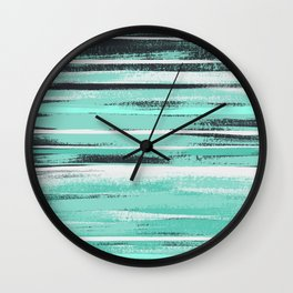 * Mint Brush * Wall Clock