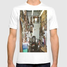 Search & Destroy MEDIUM Mens Fitted Tee White