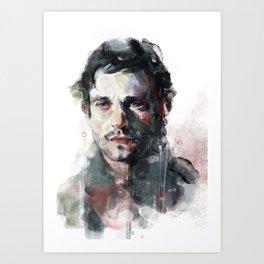L'uomo dal fiore in bocca Art Print