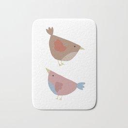 Little Birds - Graphic Art Bath Mat