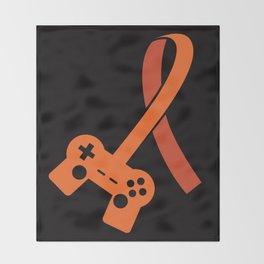 Awareness for a Gamer Throw Blanket