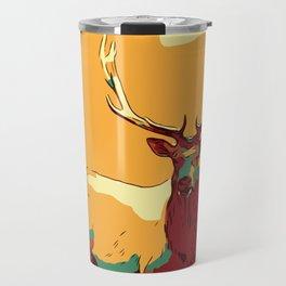 Buck Deer art, Deer Decor, Deer Print, Deer Painting, Deer Poster, Deer Wall Art, Animal Art Print. Travel Mug
