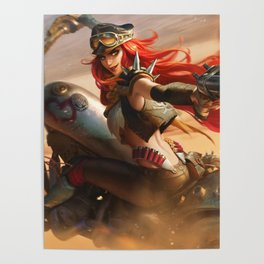 Road Warrior Miss Fortune League Of Legends Poster