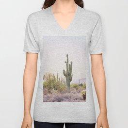Cactus In The Desert Unisex V-Neck
