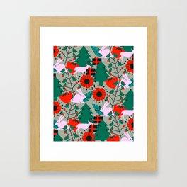 Jolly Christmas crew Framed Art Print