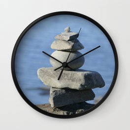 Stone on stone,  tranquility Wall Clock