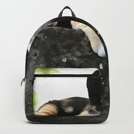 Just Chillin Tricolor Cat Backpack