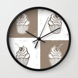 Cupcake Tiles Wall Clock