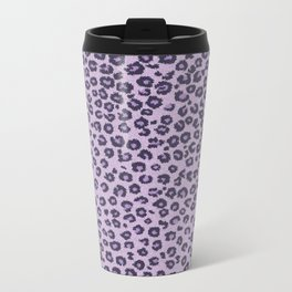 Pink cheetah Metal Travel Mug