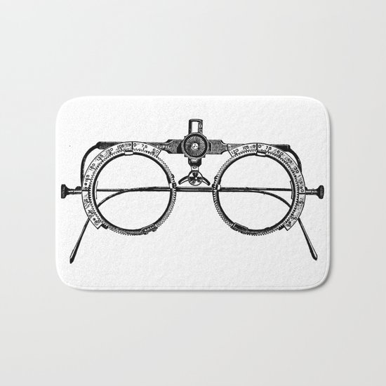 Glasses Bath Mat