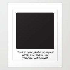 Nude Photo Art Print