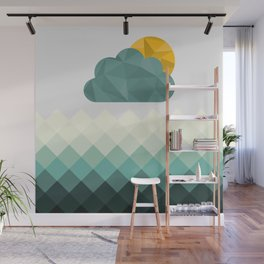 Sea Polygons Wall Mural