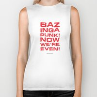 bazinga Biker Tanks featuring Bazinga! by Cloz000