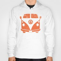 vw bus Hoodies featuring VW Bus by Burnish and Press
