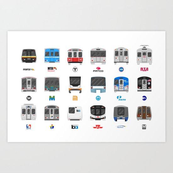 Subway Icons Art Print