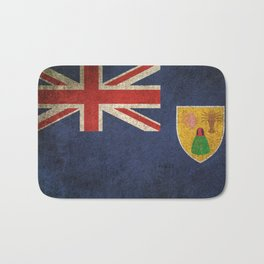Old and Worn Distressed Vintage Flag of Turks and Caicos Bath Mat