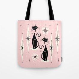 Mid Century Meow Retro Atomic Cats ©studioxtine Tote Bag