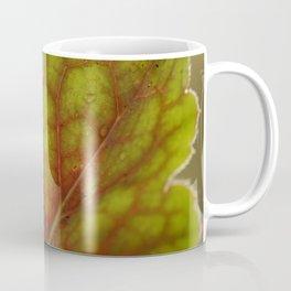 Macro Of A Heuchera Leaf Coffee Mug