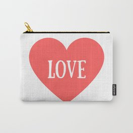 Love Heart Valentines Day Carry-All Pouch
