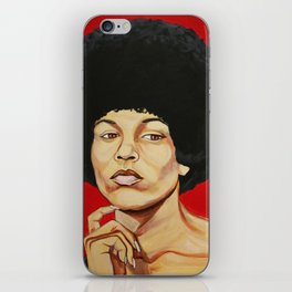 "Angela Davis ""Revolutionary"" iPhone Skin"