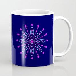 Space Flower Blue Coffee Mug