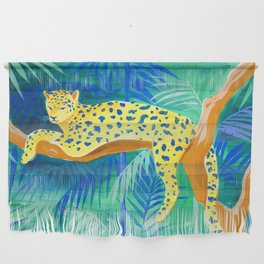 Leopard on Tree Wall Hanging