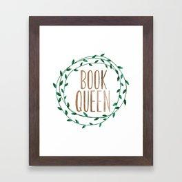 Book Queen Framed Art Print