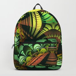 Tribal patterns mandala with fisheye effect Backpack