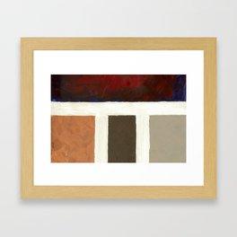 Textured Cubism -Modern Art - Color Blocking Art - Hospitality Art - Corbin Henry Framed Art Print
