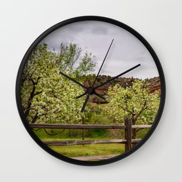 Spring Blossoms - Rockville, Utah Wall Clock
