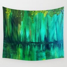 Green reflection Wall Tapestry