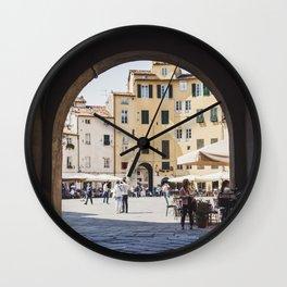 Tuscan Piazza Wall Clock