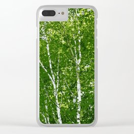 Birch Trees Photo Art Clear iPhone Case