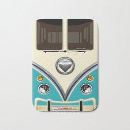 Blue teal minibus lovebug iPhone 4 4s 5 5c 6 7, pillow case, mugs and tshirt Bath Mat