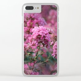 Playful Hot Pinks Clear iPhone Case