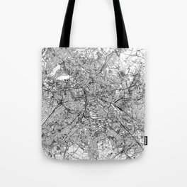 Berlin White Map Tote Bag