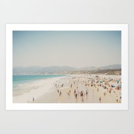 summer time in Santa Monica ... Art Print