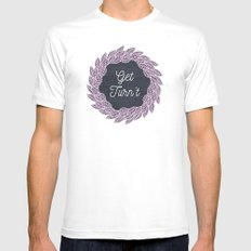 Get Turn't MEDIUM Mens Fitted Tee White