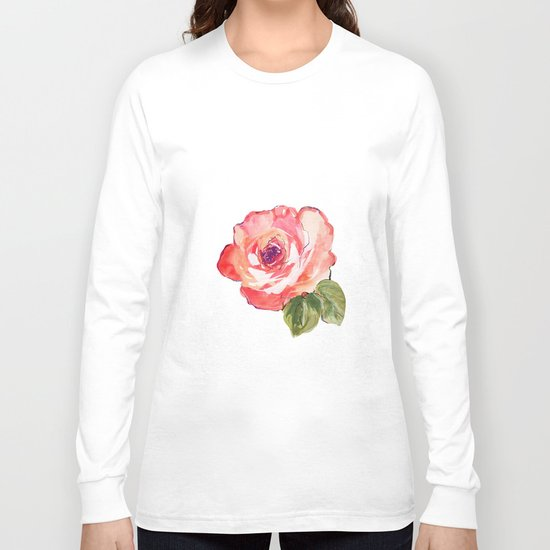 The Rose floral  Long Sleeve T-shirt