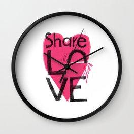 Share love Wall Clock