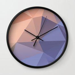 Ariel — poster purpur, violet, rosa, nude, solmon, low poly, geometric, water, landscape, sunrise Wall Clock