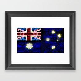 circuit board australia (flag) Framed Art Print