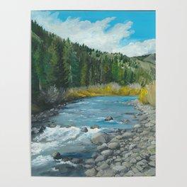 Mountain Stream Art Poster